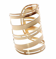 Ladies Stunning Gold Retro Roman Inspired Gladiator Bangle Wrist Cuff (Ns8)
