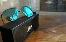Hawkers Karat Clear Blue Ace Sunglasses Polarised Mirrored Lenses Aviator Gold