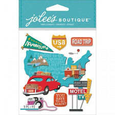 ROAD TRIP Travel Signs Driving Vacation Motel Attraction Jolee's Stickers