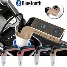 Bluetooth 2.0 Car MP3 FM Wireless Transmitter USB SD Charger Kit Car Gold