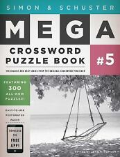 Simon and Schuster Mega Crossword Puzzle Book #5 by John M. Samson (2009,...