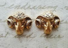 Matte Gold Ox Brass Rams (2) - GOS4217