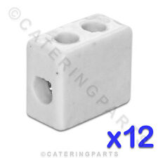 12x CERAMIC HIGH TEMPERATURE ELECTRICAL CONNECTOR BLOCKS 1 POLE 4mm 32A