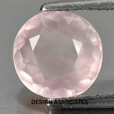 ROSE QUARTZ ROUND CUT 7 MM ALL NATURAL AAA 2 PC SET