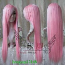 New donne parrucca moda rosa lungo rettilineo Cosplay + regalo