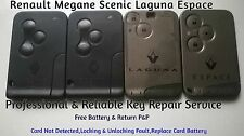 Renault Key Card Repair Fix Service Megane Scenic Espace Card Not Detected Fault