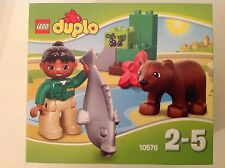 Brand New Lego DUPLO Set 10576 Zoo Care With Baby Bear, Fish, Bricks and Keeper.