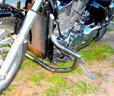 STAINLESS STEEL CUSTOM CRASH BAR HIGHWAY ENGINE GUARD+PEGS HONDA VTX 1300 CUSTOM