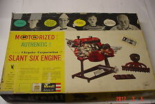 REVELL SLANT SIX ENGINE 1961 Motorized Model Kit Chrysler Missing Parts