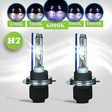 2x H7 6000k XENON SUPER WHITE 35W BULBS DIPPED BEAM HEADLIGHT HEADLAMP HID 499