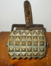 Antique Brass Meat Tenderizer Roller / Oat Roller