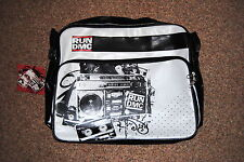 RUN DMC STEREO VINYL MESSENGER BAG BNWT OFFICIAL RAP HIP HOP COLLEGE SCHOOL WORK