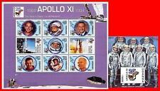 UGANDA 1994 SPACE=APOLLO 11 S/S + M/S SC#1264-65 MNH CV$21.00 ** POSTFRISCH