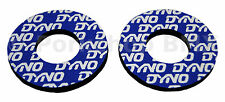 Dyno old school BMX bicycle grip foam donuts WHITE on BLUE (LICENSED)
