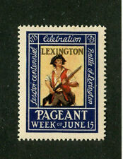 Vintage Poster Stamp Label Sesquicentennial of LEXINGTON MA 1925 PAGEANT