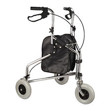 HOMCOM 24''L x 9''W Folding Mobility Rollator Walker Walking w/3 Wheels