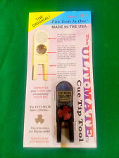 NEW ORIGINAL ULTIMATE TIP TOOL - BLACK ULTI-MATE POOL CUE TIP SHAPER SCUFFER