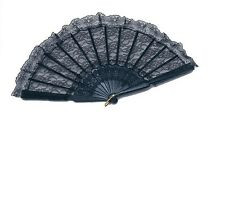 Black Flamenco Dancer Folding Lace Hand Fan Fancy Dress.