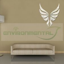 Angel Wings Modern Top Acrylic Plastic Mirrors Wall Art Home Decal Decor Sticker