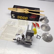 Super Tigre S3000 Engine for Model Airplane w/ Props  3 Engine Mounts & Muffler