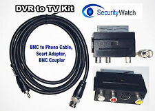 SECURITY DVR TO TV KIT CCTV BNC TO PHONO CABLE, SCART ADAPTER, BNC COUPLER SW#7