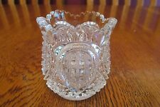 Beautiful Antique Heisey Glass EAPG Fancy Loop Clear Glass Toothpick Holder