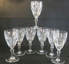 Vintage French Crystal BACCARAT, Claret Wine Glass, AUTUEIL pattern, mint