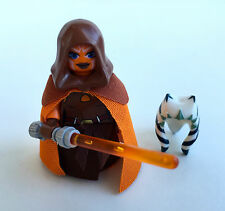 LEGO Star Wars CUSTOM Jedi Padawan Ahsoka Tano + Hood, Custom Skirt & Mantello