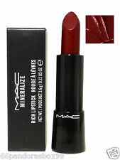 MAC Mineralize Rich Lipstick ♡ ALL OUT GORGEOUS ♡ Deep Warm Red New & Boxed