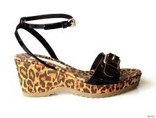 new $500 STELLA MCCARTNEY black vegan buckled platform wedges sandals shoes 39 9