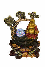 Buddha Indoor Tabletop Water Fountain Chinese Coins Ru-Yi Rolling Crystal Ball