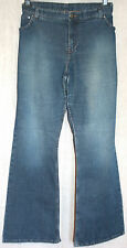 Plus Size Flared Jeans W40 L33 Classic Stretch Boot-Leg Extra Long Distressed Lk