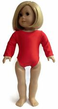 "Red Leotard Gymnastics made for 18"" American Girl Doll Clothes"