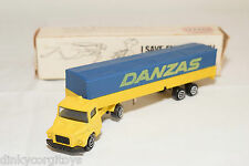 MAJORETTE TEXACO BOX DUTCH 367 SCANIA SEMI BACHE TRUCK TRAILER DANZAS MIB RARE