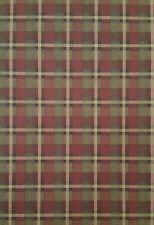 Burgundy, Green and Beige Plaid Wallpaper PC2910-3
