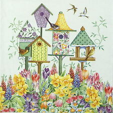 4x Single Table Party Paper Napkins for Decoupage Decopatch Craft Bird Boxes