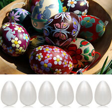 6Pcs 12cm Styrofoam Eggs Polystyrene Ball for Easter Christmas Decor DIY Craft