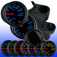 86 - 89 Mazda RX-7 Dual Gauge Pod 52mm w. 2 Tinted 7 Gauges Package