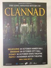CLANNAD Australian Tour Poster 2013 A2 ENYA Past Present Banba Macalla U2 ***NEW