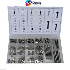 246pc Stainless Steel Nuts And Bolts Washers M3 - M4 - M5 -M6 Steel Grade 304