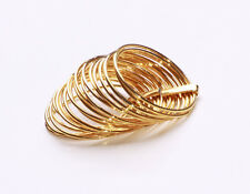 AGLEAM, FINE, SLINKY-LIKE STACK OF GOLD METAL RINGS FOR ALL OCCASIONS (ZX47)
