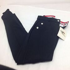 Horze Elite Self Patch Ladies Breeches Black EU40 UK 14