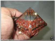 Exquisite A++ Red Jasper Flower of Life Chakra Orgone Pyramid Crystal Gemstones
