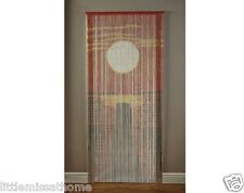 SUNSET BAMBOO DOOR CURTAIN BEADS CORDS * HANDMADE SCREEN INDOOR /OUTDOOR
