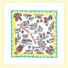 Vtg Style HAWAIIAN HI State Souvenir Flour Sack Kitchen Dish Tea Towel TIKI Luau