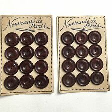 24 Boutons Anciens Style BAKELITE 1930 Mode Paris Antique French Buttons Couture