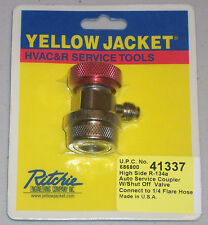 """Yellow Jacket 41337 High Side R-134a Auto Service Coupler w/ Valve, 1/4"""" Flare"""