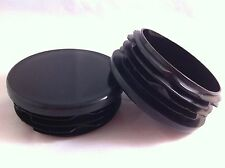 10 x Black Plastic Inserts Blanking End Cap Caps For Round Tube Pipe 40mm / 1½""