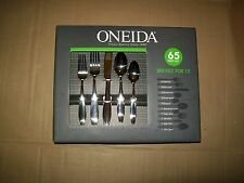 NEW ONEIDA H008065B 65-piece Comet Flatware Set Stainless Steel Service for 12