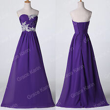 Elegant Long Chiffon Formal Prom Evening Gown Party Bridesmaids Wedding Dresses